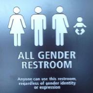 trans bathroom sign